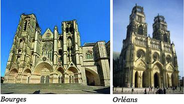 Cathédrales de Bourges et d'Orléans